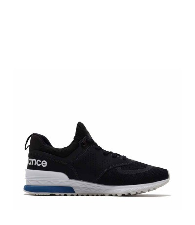 New Balance Low-top paneled mesh and suede sneakers  in Black