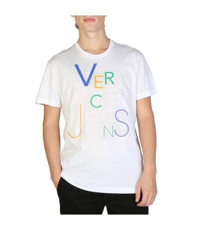 Versace Jeans White Embroidered Logo T-shirt