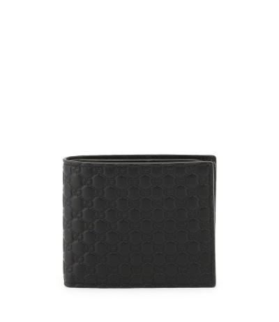 Gucci wallet with embossed gucci trademark
