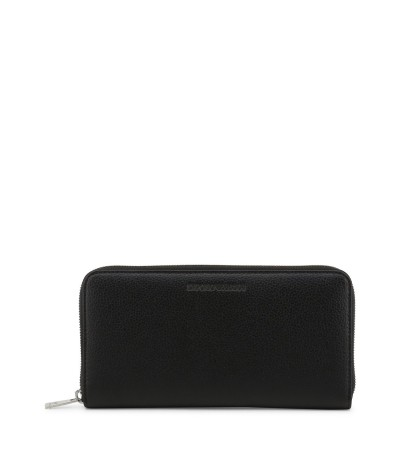 Emporio Armani Unisex Black Leather Wallet