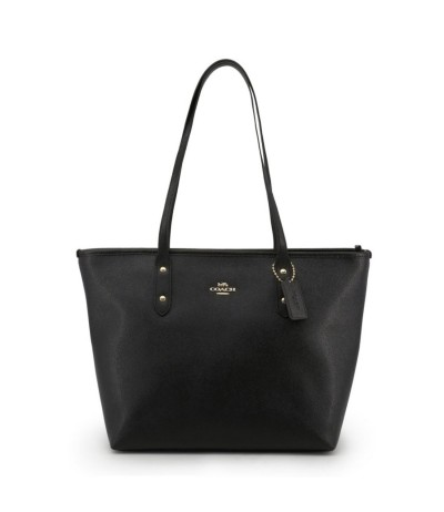 Coach Shoulder Bag With A Logo - Black
