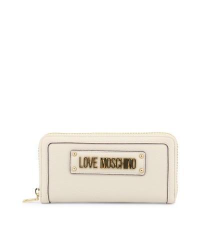 Love Moschino Wallet  With Gold plated Lettering logo on the front