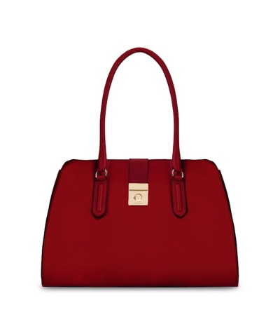 Furla Mimi' Large Leather Tote - Red