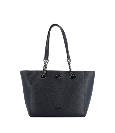 Coach  Women's Black Chain Convertible Leather Bag