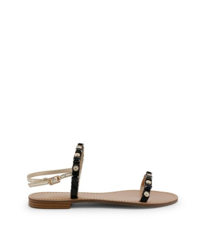 Versace Jeans Beaded Thong Sandals