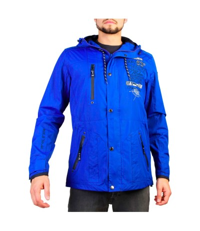 Geographical Norway  Clement Blue Jacket with black Elbows
