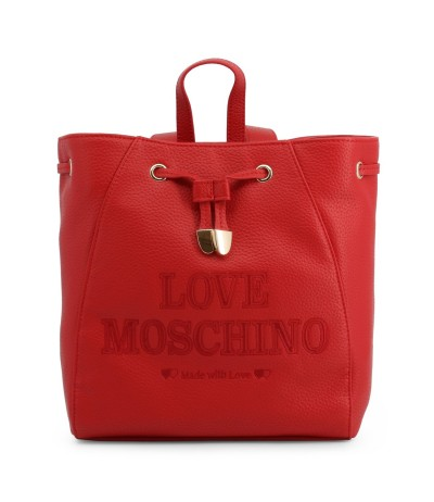 Love Moschino backpack with drawstring closure  in red