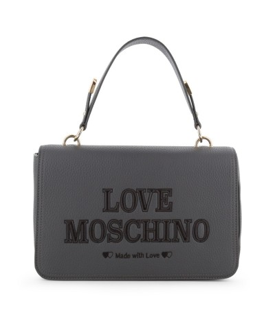 Love Moschino  Panelled Leather Cross-body Bag - Grey
