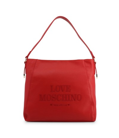 Love Moschino  Red Leather Shoulder Bag