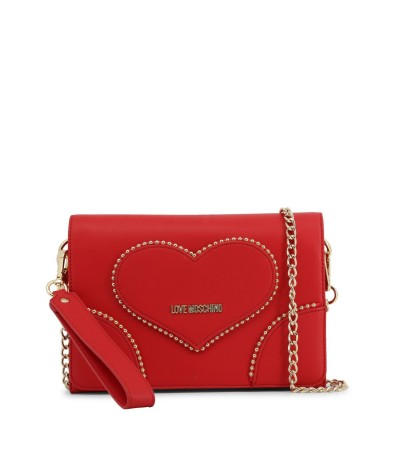 Love Moschino  Shoulder Fold Over Flap Bag  in red