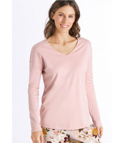 HANRO Ami Long Sleeve V Neck Shirt