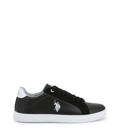 U.S. Polo Assn. Black Leather Sneakers