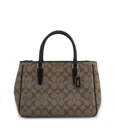 Coach Central Brown Monogrammed Tote