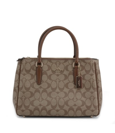 Coach Monogram Print Bag - Brown