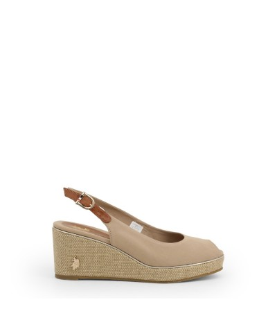U.S. Polo Assn. Womens Peep Toe Wedges