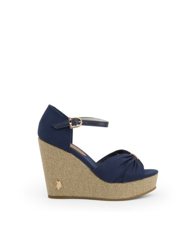 U.S. Polo Assn. peep toe wedge sandals