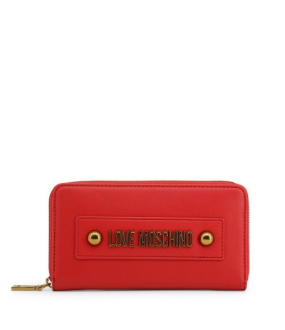Love Moschino Logo-embellished Textured Faux Leather Continental Wallet