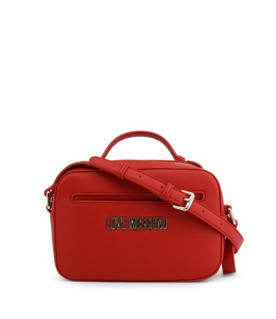 Love Moschino Leather red bag with optional bag accessory