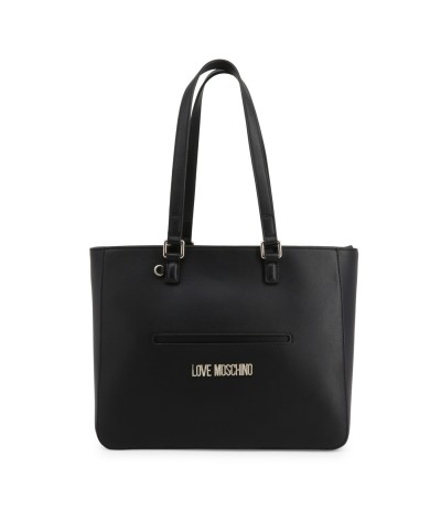 Love Moschino Logo Plaque Tote - Black