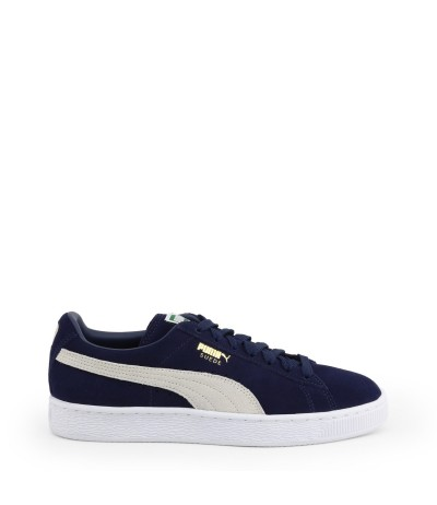 Puma On-trend suede platform sneakers with logo detail