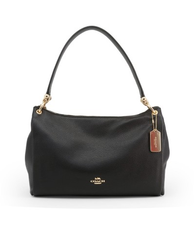 Coach Shoulder Bag With Charm Black