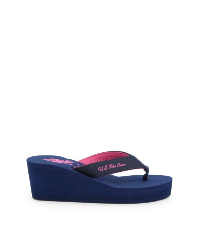 U.S. Polo Assn. Women's High Light Platform Flip - Flops Navy
