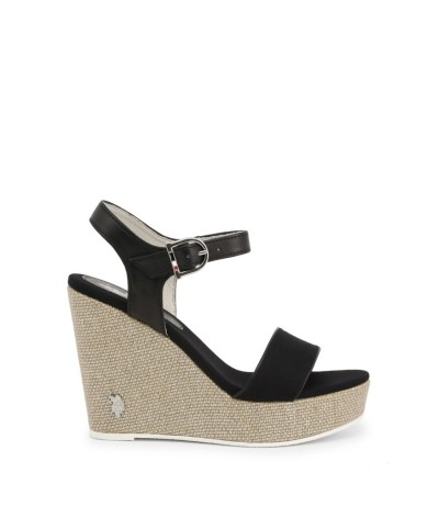 U.S. Polo Assn. Open Toe Wedge Espadrilles