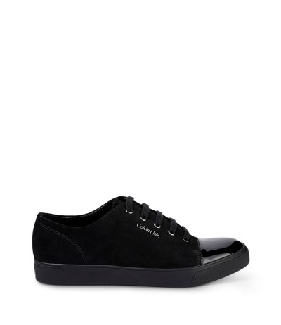 Calvin Klein Men's Suede shoes with patent toe