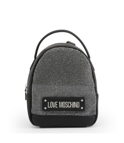 Love Moschino Silver Synthetic Small Crystals Backpack - Metallic