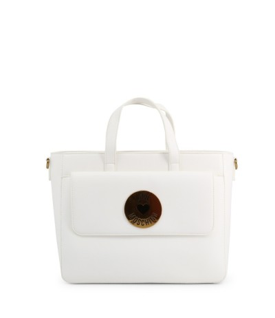 Love Moschino white scarf handle tote bag