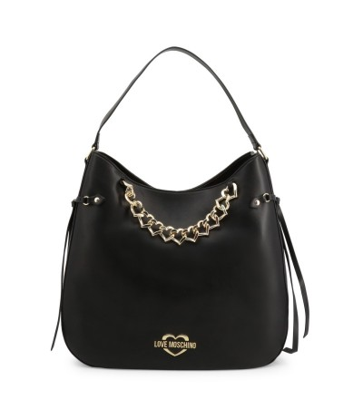 Love Moschino Shopper with chain of hearts