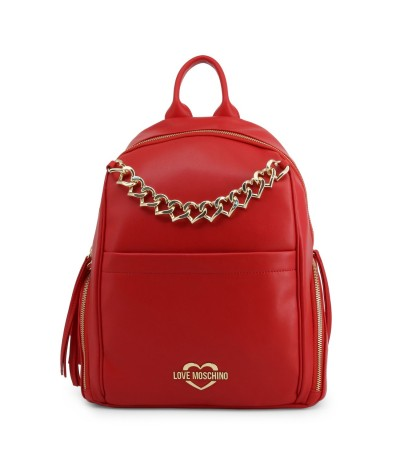 Love Moschino Heart-chain Logo Plaque Backpack
