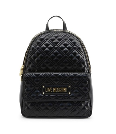 Love Moschino Backpack with gold-tone metal details