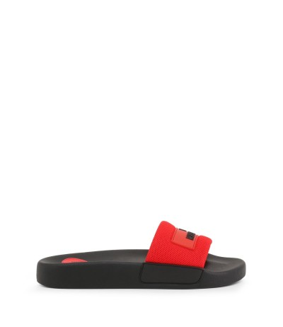 Love Moschino Multicolor Slide Sandals With Logo