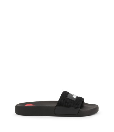 Love Moschino Logo Strap Slides black