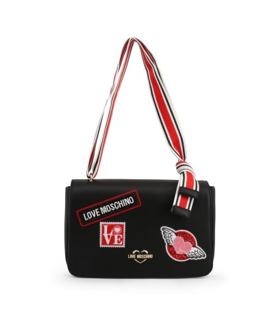 Love Moschino Stylish bag with multi colored strap