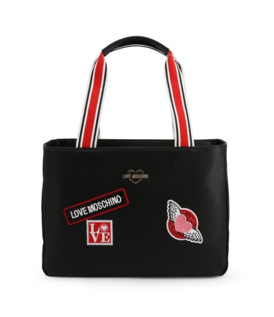 Love Moschino embroidered bag with mixed straps