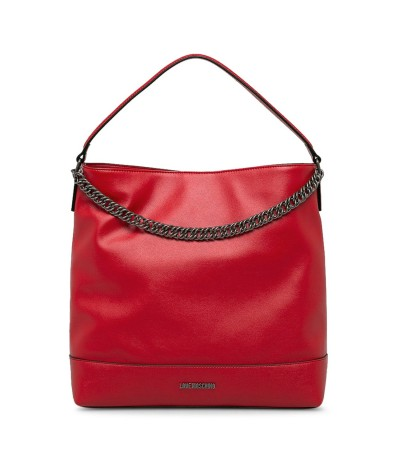 Love Moschino Red Bucket baw with chain