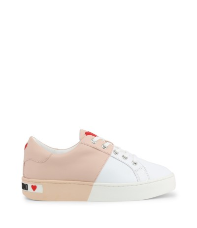 Love Moschino Colour-block Leather Sneakers - White