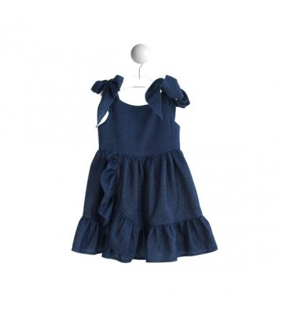 Baby Cross Baby dress in chambray lurex