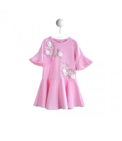 Baby Cross Dress in soft pink