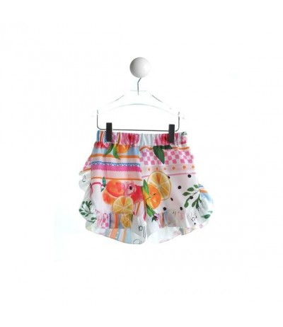 "Baby Cross girls  print shorts   ""Multicolor patch"""