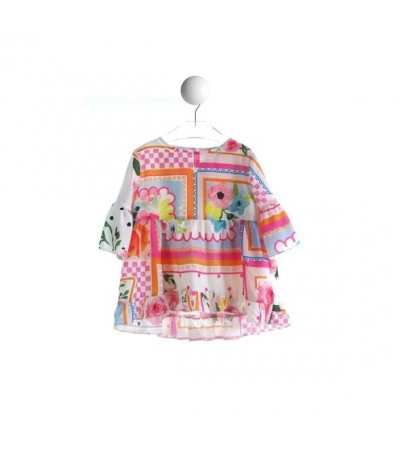 "Baby Cross Children's shirt print ""Multicolor patch"""