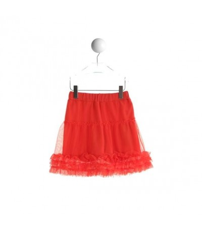 Baby Cross  skirt in orange tulle