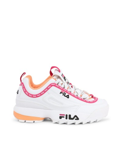 Fila sneakers with embroidered logo on the tongue, side and back.