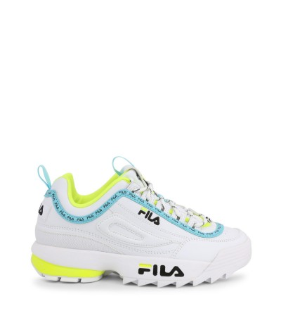 Fila faux leather and techno fabric sneakers