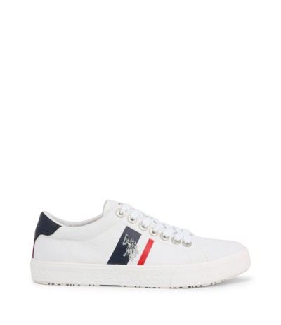 U.S. Polo Assn. Low  Sneaker with logo - White