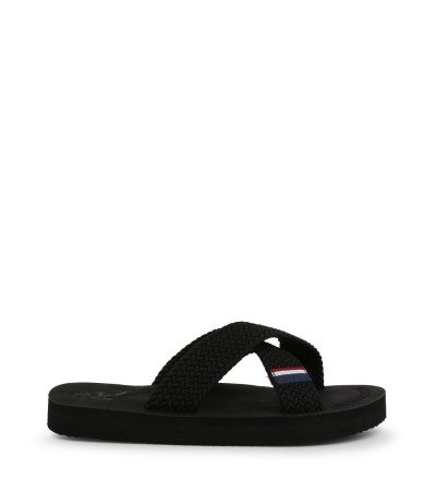 U.S. Polo Assn. - Cross Strap Slides - Black