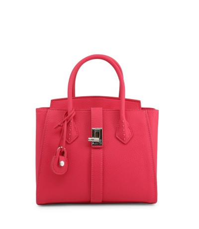 Trussardi Women's Pink   Leather  Twist Top-handle Bag