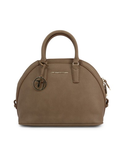 Trussardi Demi-lune Leather Shoulder Bag